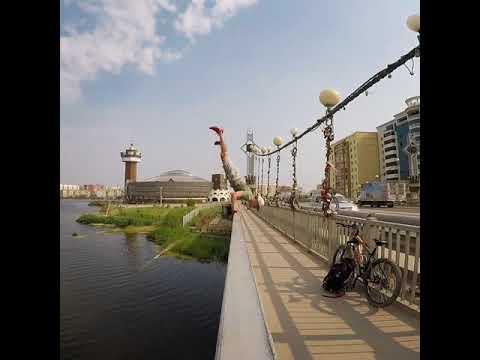 Дикий Жорик на мосту в Якутске