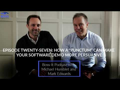 "Episode 27: How a ""punctum"" can make your software demo more persuasive"