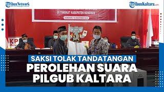 KPU Nunukan Tetapkan Perolehan Suara Pilgub Kaltara Iraw Unggul 49.253, Saksi Tolak Tandatangan