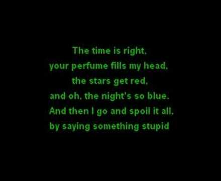 Robbie Williams & Nicole Kidman - Something Stupid - Lyrics