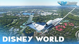 Flying over Walt Disney World Orlando Florida - Microsoft Flight Simulator Test