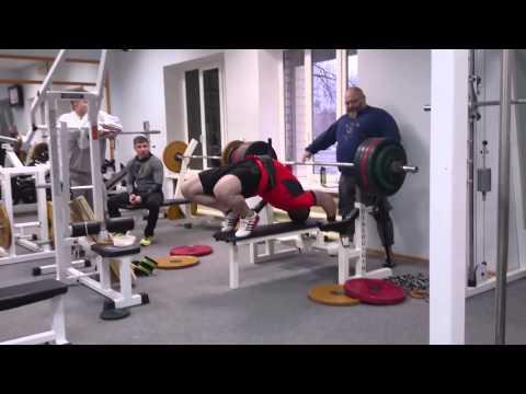 Олег Филимонов. Жим лежа штанги весом 225 кг