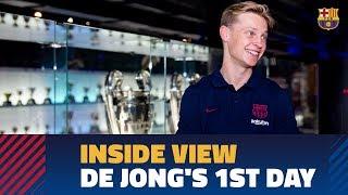 [BEHIND THE SCENES] Frenkie De Jong's First Day In Barcelona