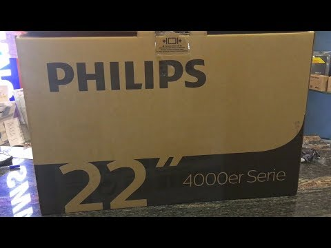 📺👉PHILIPS tv 22PFS4031 Full HD ( UNBOXING - TEST - kicsomagoás)