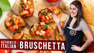 How to Make Authentic Italian Bruschetta | The Stay At Home Chef