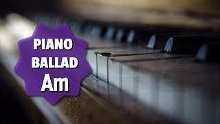 A Minor Sad Piano Ballad Backing Track 110 Bpm