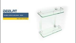 Double Layer Glass Shelf - 30cm     SKU #D1157482