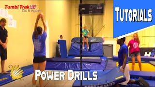 Trampoline Gymnastics Tutorial ~ Power Drill For Flipping