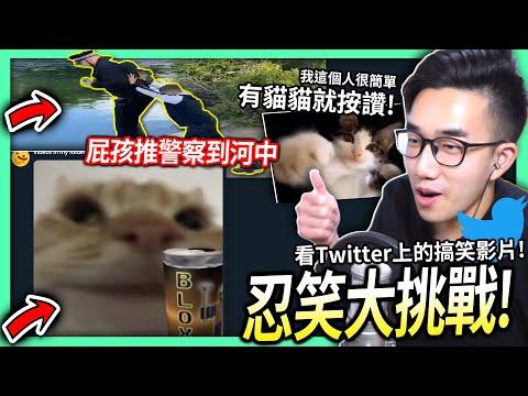 筆電這次看推特的搞笑影片來挑戰忍笑