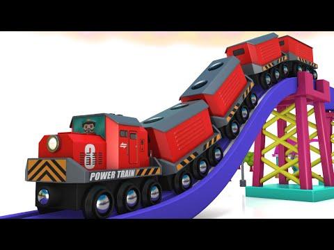TREASURE HUNT: Toy Factory Cartoon | Toy Train and Car Parking Cartoon for Kids Choo Choo Cartoon