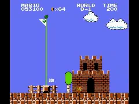 Super Mario Bros (NES) Speed Run World Record 4:57 (видео)