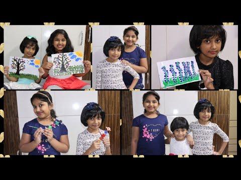 Tessie & Dhanya's Art ||Fingerprint art for kids|| Easy painting|| Dhanya Tryphosa|| Tessie Ashirvad