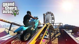 EPIC ROLLER COASTER STUNT! - (GTA 5 Top 5 Stunts)