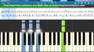 The Call  - Regina Spektor -- piano lesson with Synthesia
