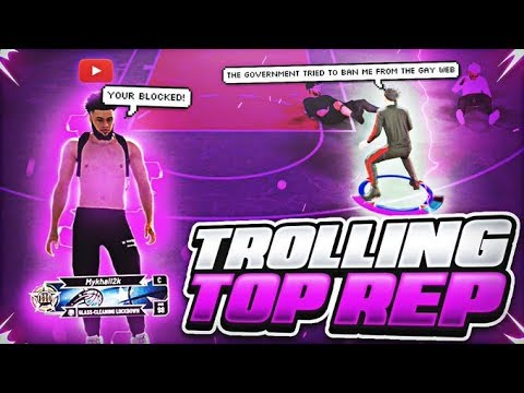 I TROLLED the #1 TOP REP on NBA 2K20 with INAPPROPRIATE MUSIC! (HE BLOCKED ME)