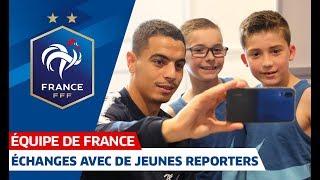 Échanges Avec De Jeunes Reporters, Équipe De France I FFF 2018-2019