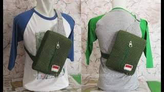 Crochet || Tas Ransel Cowok - Sling Backpack For Men || Alternating Spike Stitch