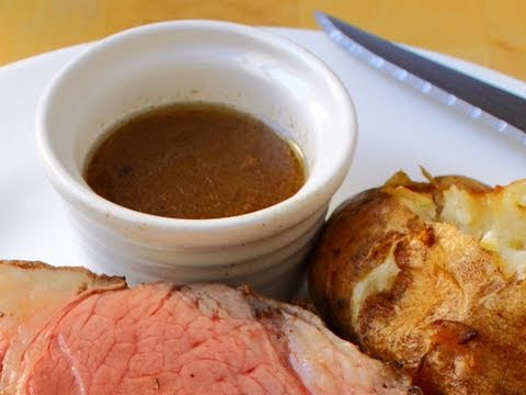 Beef Au Jus Recipe – Au Jus for Prime Rib of Beef – How to Make Au Ju Sauce