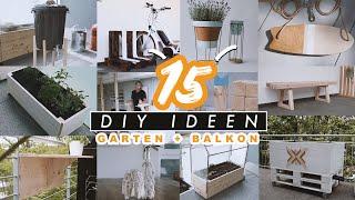 15 DIY & Upcycling Ideen für Garten, Balkon und Terrasse einfach selber machen   EASY ALEX