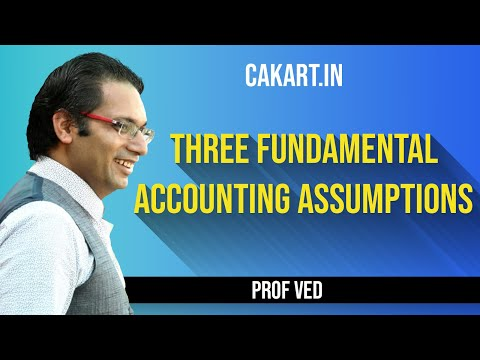 Three Fundamental Accounting Assumptions By Prof Ved For CA,CS & CMA Students