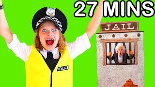27 MINS BEST VIDEOS FROM BIGGY THE POLICEMAN Pretend Play w/ The Norris Nuts