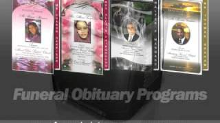 Funeral Service Obituary Program Samples with Instant Download