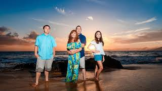 Maui Family Sunset Beach Portraits