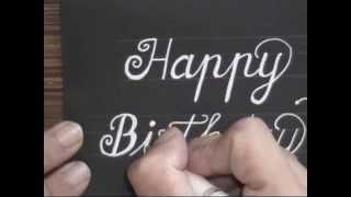 cursive fancy letters - how to write happy birthday card