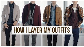 Layering Fall/Winter Mens Outfits | Men's Fashion | Outfit Ideas
