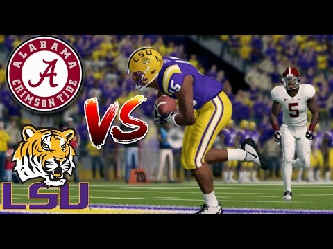 ALABAMA vs LSU!! - NCAA Football 14