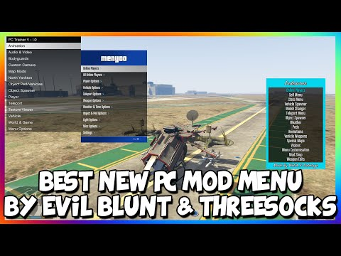 GTA 5 PC MODS - BEST NEW PC SCRIPT MOD MENU - PC TRAINER BY EVIL