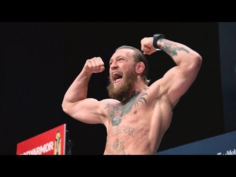 La pesée officielle entre McGregor et Cerrone lors de l'UFC 246