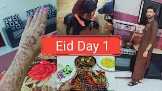 Eid Day 1 Vlog 🌙 / Eid in Saudi Arabia / Fairy life in saudi arabia 😍