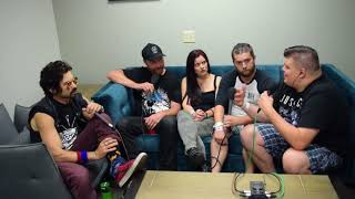 Baby Huey and Chasta meet backstage with Jess Margera and Chad Ginsburg