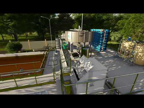 Revit Môi Trường - Animation - Hệ thống xử lý nước thải cao su