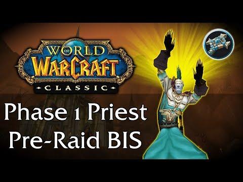 Vanilla Pre raid bis Holy paladin +PvE spec - смотреть онлайн на Hah