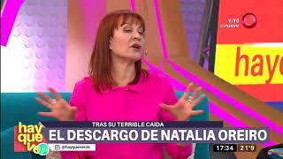 Habló Natalia Oreiro tras su terrible caída
