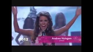 Ultimas 14 Miss España Participaciones Miss Universe - From Spain