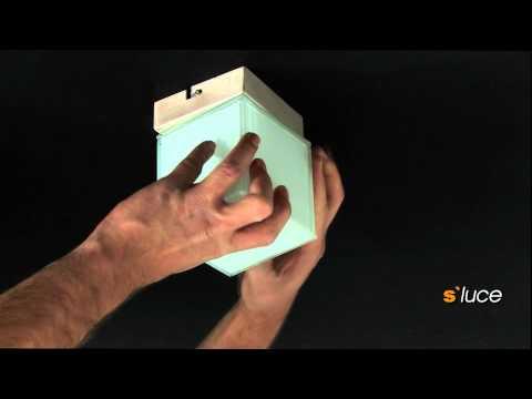 s`luce DICE Deckenleuchte mit Würfelglas, Licht-Design Skapetze