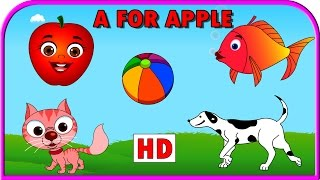 A for Apple Nursery Rhymes | Alphabets Phonics Songs | Children Nursery Rhymes