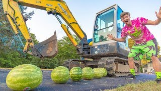 SMASHING WATERMELON WITH TANK!! - Video Youtube