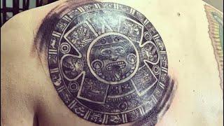 Aztec Calendar Tattoo Timelapse