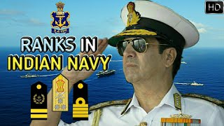 Ranks In Indian Navy   Indian Navy Ranks, Insignia And Hierarchy Explained (Hindi)