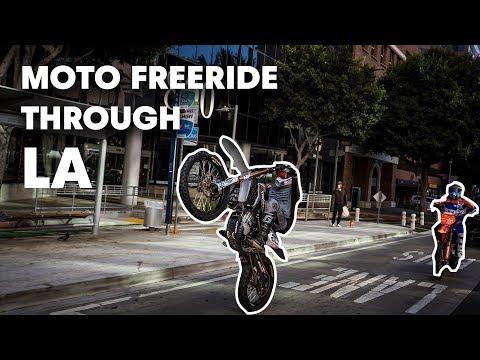 Professional Motocross Freestyle Riders Pull Off Insane Stunts in LA