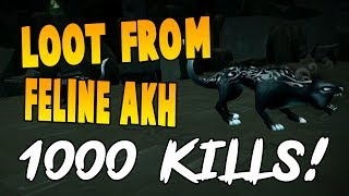 Runescape 2017 | Loot From 1000 Feline Akhs! | NEW slayer creature