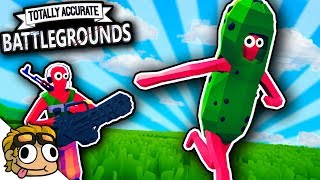 TABG PICKLE SUIT vs MINIGUN BATTLE! | Totally Accurate Battlegrounds Funny Moments