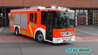 preview picture of video 'Löschzug BF Göttingen Hauptfeuerwache [+ Alarmgong + DME Alarm] (HD)'