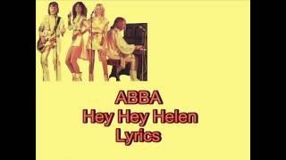 ABBA-Hey Hey Helen (Lyrics)