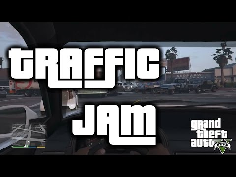 insane gta v traffic jam happens all by itself kotaku australia. Black Bedroom Furniture Sets. Home Design Ideas
