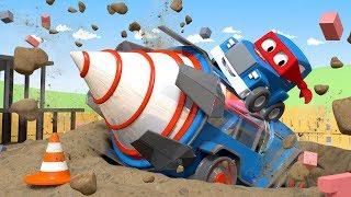 Máy khoan khổng lồ - Siêu xe tải Carl 🚚⍟ những bộ phim hoạt hình về xe tải l Vietnamese Cartoons